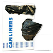 Boardwalk Low-Density Can Liners, 24x23, 8-10gal, .35 Mil, Black, 50 Bags/Roll, 1/CA, #BWK2423L