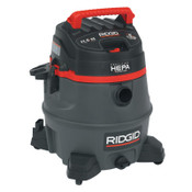Ridge Tool Company 2-Stage Wet/Dry Vacuums, 14 gal, 6.5 hp, W/Hose/(7)Attachmts/Diffuser/(3)Filter, 1/EA, #50368