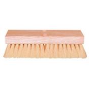 Magnolia Brush Deck Scrub Brushes, 10 in Hardwood Block, 2 in Trim L, Stiff Palmyra, w/Handle, 12/EA, #10DP