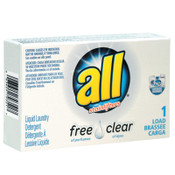 Diversey Free Clear HE Liquid Laundry Detergent, Unscented, 1.6 oz Vend-Box, 100/CT, #VEN2979351