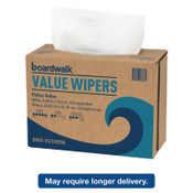 Boardwalk DRC Wipers, White, 9 1/3 x 16 1/2, 9 Dispensers of 100, 1/CT, #BWKV030IDW2