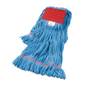 Boardwalk Super Loop Wet Mop Head, Cotton/Synthetic, Large Size, Blue, 12/EA, #BWK503BLEA