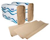 Windsoft Folded Hand Towels, Single-Fold, Brown, 16/CA, #WIN106