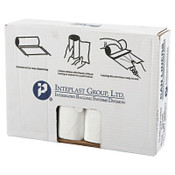 Inteplast Group High-Density Can Liner, 33 x 39, 33gal, 14mic, Clear, 25/Roll, 1/CT, #IBSVALH3340N16