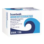 Boardwalk Medium Duty Scour Pad, Green, 6 x 9, 20/CT, #BWK196