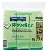 Kimberly-Clark Professional WypAll Microfiber Cloths, Green, 4/CA, #83630
