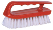 Weiler Hand Scrub Brush, 6 in Plastic Block, 1 1/8 in Trim L, White Polypropylene Fill, 12/EA, #44395