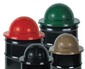 Newell Rubbermaid Steel Dome Tops, For MT32, H55, H55E, SBR52; or 55 Gal. Drums, 24 1/2 in, 1/EA, #1855BK