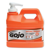 Gojo Natural Orange Pumice Hand Cleaner, Pump Bottle, 1/2 Gallon, 4/CA, #95804