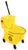 Newell Rubbermaid Bucket/Wringer Combination Pack, 44 qt, Yellow, 1/EA, #757688YEL