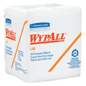 Kimberly-Clark Professional WypAll L40 Wipers, 1/4 Fold, 19 5/8 x 14 2/5, White, 56 per pack, 18/CA, #5701