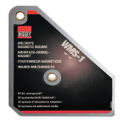 BESSEY Magnetic Square 90/45 Degree, 66 lb, 3 3/4 in x 4 3/8 in x 3/4 in, 1/EA, #WMS1