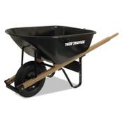 The AMES Companies, Inc. Jackson Steel Medium Duty Wheelbarrows, 6 cu ft, Smooth, Oilube Bearing, Black, 1/EA, #J6