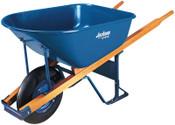 The AMES Companies, Inc. Jackson Steel Contractors Wheelbarrows, 6 cu ft, Flat-Free Smooth, B.B., Blue, 1/EA, #M6FFBB
