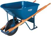 The AMES Companies, Inc. Jackson Steel Contractors Wheelbarrows, 6 cu ft, Pneumatic, Oilube Bearing, Blue, 1/EA, #M6T22