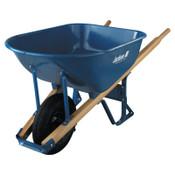 The AMES Companies, Inc. Jackson Steel Contractors Wheelbarrows, 6 cu ft, Pneumatic 2-Ply, B.B., Blue, 1/EA, #M6T22BB