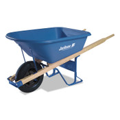 The AMES Companies, Inc. Jackson Poly Contractors Wheelbarrows, 5.75 cu ft, Flat-Free Smooth, B.B., Blue, 1/EA, #MP575FFBB