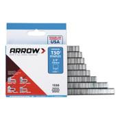 Arrow Fastener T50 Type Staples, 3/8 in L x 3/8 in W, 20/PK, #506IP