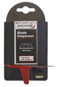 Anchor Products Blade Dispenser Containers, 5.5 in, Steel, 100/PAK, #AB11100