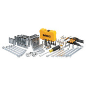 DeWalt Mechanics Tools Set, 142 pc, 1/4 in and 3/8 in Drive, 1/EA, #DWMT73802