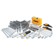 DeWalt Mechanics Tools Set, 168 pc, 1/4 in, 1/2 in and 3/8 in Drive, 1/EA, #DWMT73803