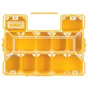 DeWalt Deep Pro Organizers, 13 1/8 in x 14 in x 4 1/2 in, Plastic, Black/Yellow, 3/CA, #DWST14825