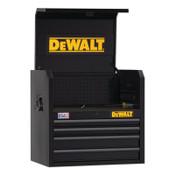 DeWalt 700 Series Top Tool Chest, 26 in Wide, 4-Drawer, Black, 1/EA, #DWST22644