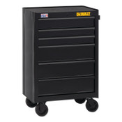 DeWalt 700 Series Rolling Tool Cabinet, 26 in Wide, 6-Drawer, Black, 1/EA, #DWST22760
