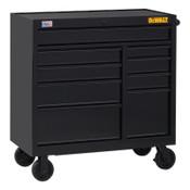 DeWalt 900 Series Rolling Tool Cabinet, 41 in Wide, 9-Drawer, Black, 1/EA, #DWST24191