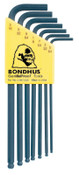 Bondhus Balldriver L-Wrench Key Sets, 7 per holder, Hex Ball Tip, Inch, 1/SET, #10945