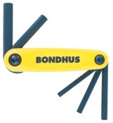 Bondhus GorillaGrip Fold-Ups, 5 per fold-up, Hex Tip, Inch, 1/SET, #12585