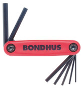 Bondhus GorillaGrip Fold-Ups, 7 per fold-up, Hex Tip, Metric, 1.5-6 mm, 1/ST, #12592