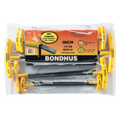 Bondhus Balldriver T-Handle Hex Key Sets, Hex Ball Tip, Inch, 1/ST, #13138