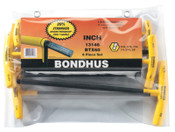Bondhus Balldriver T-Handle Hex Key Sets, Hex Ball Tip, Inch, 1/SET, #13146