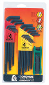Bondhus Balldriver L-Wrench Fold-Up Set, 30 pieces T6-T25, Torx Tip, Inch/Metric, 1/SET, #14132
