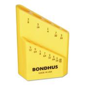 Bondhus Bondhex Cases, Replacement Hex Key Case, Holds 13 Piece, 10/EA, #18037