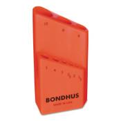 Bondhus Bondhex Cases, Replacement Hex Key Case, Holds 9 Piece, 10/PKG, #18099