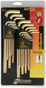 Bondhus GoldGuard L-Wrench Combination Sets, 22 pieces, Ball Hex Tip, Inch/Metric, 1/SET, #20899