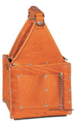 Ideal Industries Tuff-Tote Ultimate Tool Carriers, 7 Compartments, Brown, Premium Leather, 1/EA, #35975