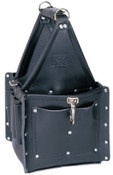 Ideal Industries Tuff-Tote Ultimate Tool Carriers, 7 Compartments, Black, Leather, 1/EA, #35975BLK