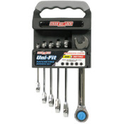 Channellock Uni-Fit Ratcheting Wrench Sets, SAE; Metric, 1/ST, #38036