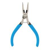 Channellock Little Champ Long Nose Pliers, w/Side Cutter, 5 in, 1/EA, #E47S