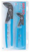 Channellock Griplock Tongue and Groove Plier Set, 10 in and 12 in Lengths, Hex Jaw, 1/EA, #GLS1