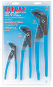Channellock Griplock Tongue and Groove Plier Set, 6 in, 10 in and 12 in Lengths, Hex Jaw, 1/EA, #GLS3