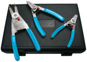 Channellock Snap Ring Pliers Set, Replaceble Tip, 0.023 in Tip Min, 0.120 in Tip Max, 1/ST, #RT3
