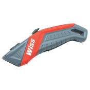 Apex Tool Group Auto-Retracting Safety Utility Knife, 7 in, Black Oxide, Gray/Red, 1/EA, #WKAR2