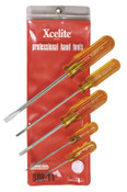 Apex Tool Group Round Blade 5 Piece Screwdriver Sets, Slotted, 1/SET, #SDR11N
