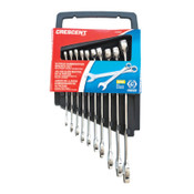 Apex Tool Group 10 Piece SAE Combination Wrench Sets, 12 Points, SAE, 1/ST, #CCWS2