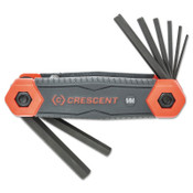 Apex Tool Group Folding Hex Key Sets, 8 Pc., Hex Tip, Metric, 1/ST, #CHKFM8