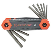 Apex Tool Group Folding Hex Key Sets, 9 Pc., Hex Tip, Inch, 1/ST, #CHKFSAE9